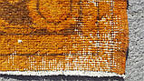 Штучно витертий класичний яскраво помаранчевий вінтажний килим, фото 6