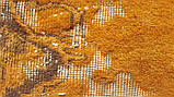 Штучно витертий класичний яскраво помаранчевий вінтажний килим, фото 7