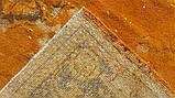 Штучно витертий класичний яскраво помаранчевий вінтажний килим, фото 8