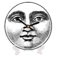 Часы круглые декоративные с принтом Лицо луны 18 см