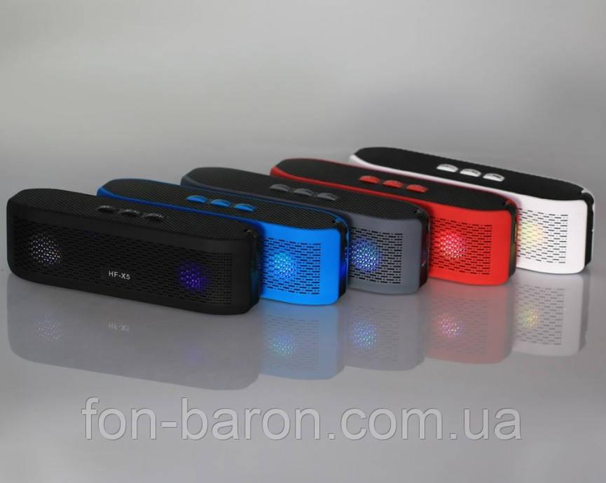 Портативна Bluetooth колонка HF-X5 зі світломузикою - фото 5