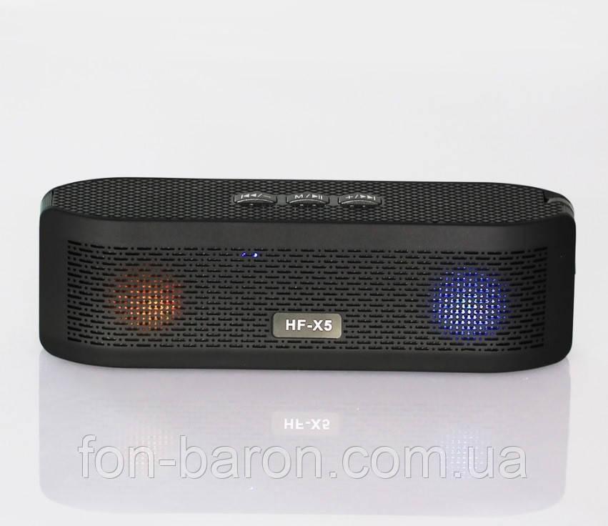 Портативна Bluetooth колонка HF-X5 зі світломузикою - фото 1