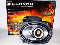 MEGAVOX MGT-9836 6x9 овалы (500W) трехполосные, фото 1