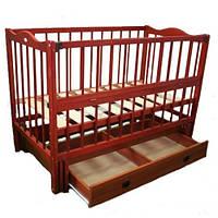Кузя Ангелина детская кроватка на маятнике с ящиком