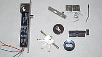 Электроригельный врезной универсальный замок с ключами AX078
