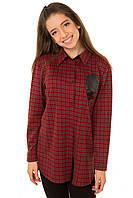 Рубашка в клетку для девочки подростка