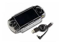 Чехол корпус пластиковый  PSP 1000 Fat,Crystal Case&USB 2.0