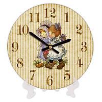 Часы круглые настенные в детскую 18 см