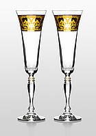 Бокалы для шампанского Victoria Rene золото 2 шт.