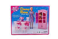 """Мебель """"Gloria"""" 24011  для столовой, стол, стулья, буфет, посуда…в кор.32*24*5см"""