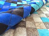 Гарний сучасний килим сірий з блакитним кольором, фото 2