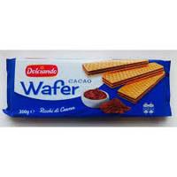 Вафли Dolciando Wafer Cacao с какао, 300 г (Италия)