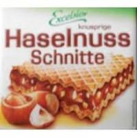 Вафли Excelsior Knusprige Haselnuss Schnitte с лесным орехом, 250 г (Германия)