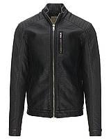 Мужская кожаная куртка Diara Jacket черного цвета от !Solid (Дания) в размере L