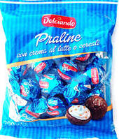 Конфеты шоколадные Dolciando Praline со злаками, 200 г (Италия)