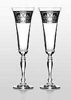 Бокалы для шампанского Victoria Rene платина 2 шт.