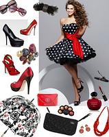 Женское Платье в горох, +  пышная юбка (подъбник)., фото 3
