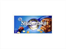 Шоколад ORION Studentska Pecet молочный желе, арахис, изюмом, 180 г  (Чехия)