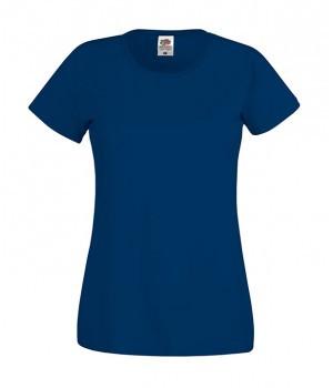 Женская футболка хлопок темно синяя 420-32