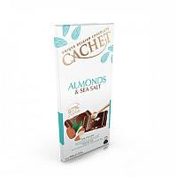 Шоколад черный Cachet Almonds & Sea Salt, 100 г (Бельгия)