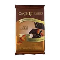 Шоколад черный Cachet Dark Chocolate with Almonds 53%, 300 г (Бельгия)
