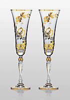 Бокалы для шампанского Victoria Medea Gold