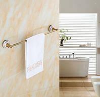 Вешалка для полотенец на кухню или в ванную комнату бронза настенная, фото 1