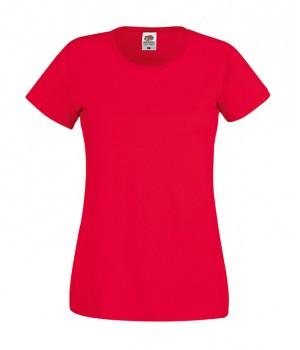 Женская футболка классическая красная 420-40