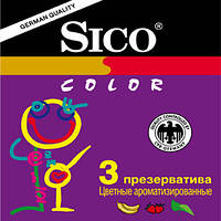 Презервативы Sico Color (цветные, с ароматизированной силиконовой смазкой) №3