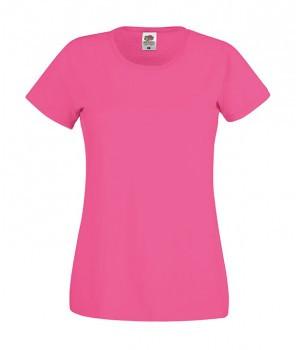 Женская футболка классическая малиновая 420-57
