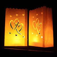 Светящиеся не горящие пакеты, сердца