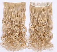 Накладная прядь ТЕРМОСТОЙКИЕ ВОЛОСЫ НА ЗАКОЛКАХ светло русый Волосы на заколках тресс
