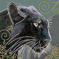 """Схема для вышивки бисером """"Пантера"""", 27х27 см"""