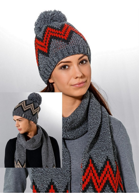 Теплая вязанная молодежная шапочка унисекс от Loman Польша