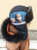 """Зимняя шапка для мальчика """"Миньён"""""""