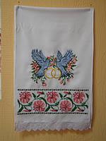 """Вышитый рушники """"Лілії,голуби"""" ( арт. Н-20.0.2 ), фото 1"""
