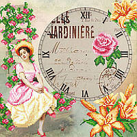 """Схема для вышивки бисером """"Часы"""", 27х27 см"""