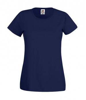 Женская футболка классическая темно синяя 420-АЗ