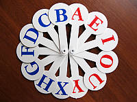 Веер Английский алфавит (2 шт) гласные, согласные