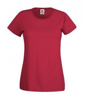 Женская футболка классическая темно красная 420-ВХ