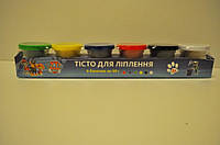 Набор для творчества Тесто-пластилин для лепки в баночках 6 цветов