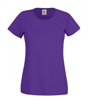 Женская футболка классическая фиолетовая 420-РЕ