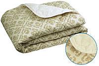 """Зимнее шерстяное одеяло """"Орнамент"""", полуторное евро."""