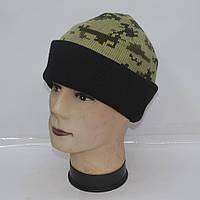 ШАПКА камуфляжная на флисе для активного отдыха или охоты и рыбалки - Код 105-44