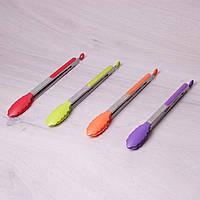 Щипцы нейлоновые 30.5см с ручками из нержавеющей стали