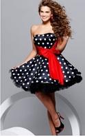Женское Платье в горох, + пышная юбка (подъбник).
