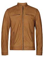 Мужская натуральная кожаная куртка Hamell Sheep leather Jacket бежевого цвета от !Solid (Дания) в размере L