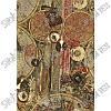 """Искусственная кожа Folio Desen (принт цветной) """"Карта бежевая"""""""