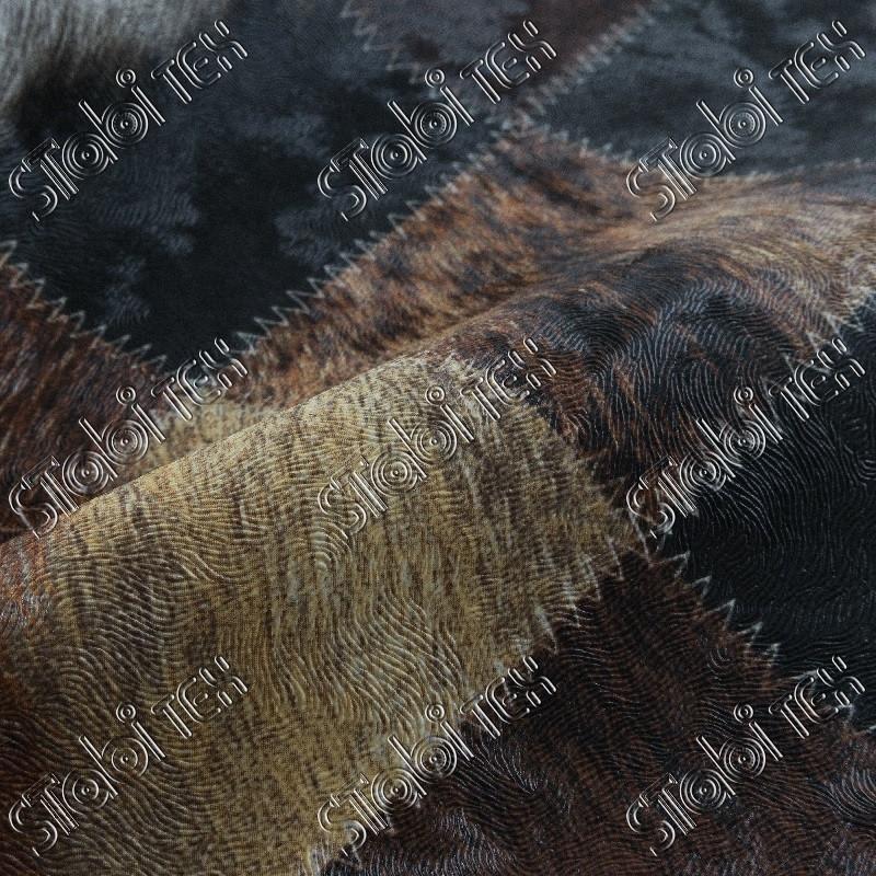 """Искусственная кожа Folio Desen (принт цветной) """"Ков оранж."""""""