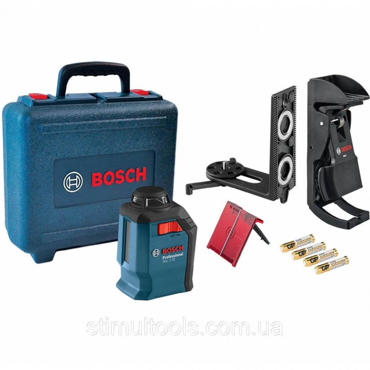 Нивелир лазерный Bosch GLL 2-20 + BM 3 + кейс